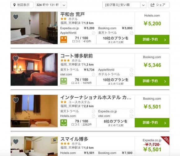 ホテル最安2